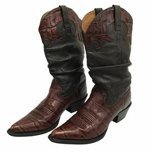 Ariat Ginger Slouch Gator Boots (Size 6.5)